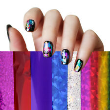 50 Colors Nail Art Transfer Foil Stickers for Nail Tips Decoration & Glue Set