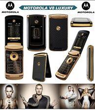 2GB ORIGINAL Motorola RAZR2 V8 Luxury Edition GOLD 100% UNLOCKED WARRANTY 2017 V