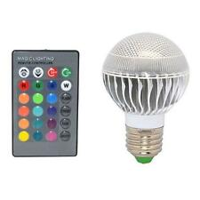 New E27 15W RGB LED Light Color Changing Lamp Bulb 85-265V With Remote Control N