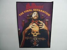 BULLDOZER THE FINAL SEPARATION SUBLIMATED BACK PATCH
