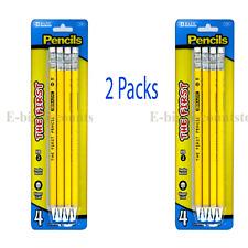 2 Packs BAZIC #2 The First Jumbo Premium Yellow Pencil Yellow, (4/ Pack )