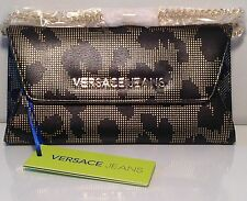 VERSACE JEANS-Black & Gold Toned Envelope Purse(RRP £72)New In Original Gift Box