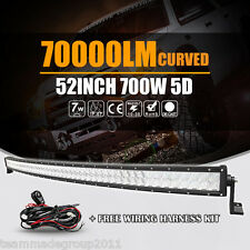5D 52inch 700W Curved OSRAM LED Light Bar Spot Flood Driving Offroad SUV 4WD 54""