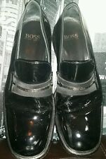 Rare Vintage ICONIC HUGO BOSS Black BOYFRIEND Loafers Shoes Patent Tuxedo 9.5