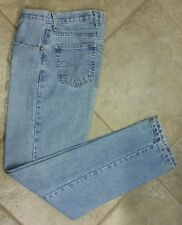 VTG Anchor Blue Womens LOOSE FIT Jeans Light Wash High Waist Sz 3/4 Inseam 32""