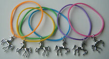 6 X HORSE PONY GUMMY BANDS CHARM BRACELETS PARTY BAG FILLERS PRIZES  *FREEPOST*