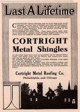 AD LOT OF 5 1905 - 1915 ADS  CORTRIGHT METAL ROOFING CO SHINGLES CONSTRUCTION