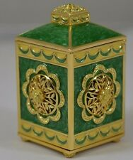 Wendy Reed 'Rebecca' Crystal Accented Goldtone And Enamel Trinket Box