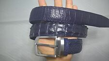 Blue Genuine Alligator, Crocodile Leather Skin Men's Belt