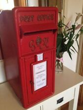 Red/ White Royal Mail Wedding Post Box Lockable - For Hire