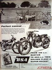 1958 Motor Cycle ADVERT - B.S.A. '125cc Bantam & 650cc Golden Flash' Print AD #2