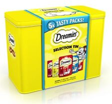 DREAMIES SELECTION TIN XMAS LTD EDITION CONTAINS 5 PACKS OF 60g CAT GIFT IDEA