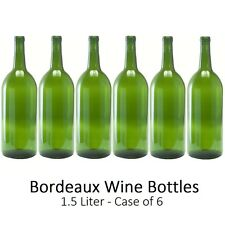 Empty Magnum Wine Bottles 1.5 L - Bordeaux/Claret Style - Case of 6 - Homebrew