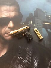 Art Figures Soldier of Fortune Expendables 2 JCVD Gold Pistol loose 1/6th scale