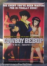 "Cowboy Bebop Movie Poster 2"" X 3"" Fridge / Locker Magnet. Japanese Animation"