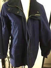 Vintage Men's Pacific Trail Full Zip Outdoor Jacket Size M NV Blue Flannel Lined
