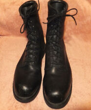 Addison Shoe Co. Black Leather Steel Toed combat  Boots Size 12.5 R VERY GOOD