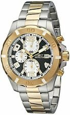 NEW Invicta 17719 Men's Specialty Analog Two Tone Gold/Silver Carbon Fiber Watch