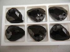 1 large swarovski crystal rock pendant(top drilled)35mm jet #6190  60% off
