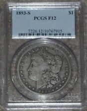 """1893-S Silver Morgan Dollar Graded PCGS F12  """"The Moster Key"""" !!!"""