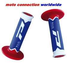 PRO GRIP 788 BLUE/RED/WHITE TRIPLE DENSITY MOTOCROSS GRIPS YAMAHA WRF250 WRF450