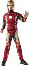 Marvel Avengers Iron Man Muscle Costume w Shoulder Badge Rubies Boys L 10-12 NEW