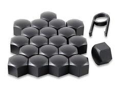 Set 20 17mm noir voiture caps couvre boulons écrous de roue pour Seat Leon Mk1 Mk2 Mk3