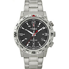 Timex Men's Intelligent Quartz | Compass Stainless Steel Bracelet & Case T2P289