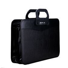 Mens Teachers Luxury A4 Office School File Leather Black Briefcase Laptop Bag