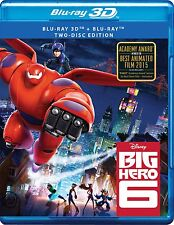 Big Hero 6 (2014) (Blu-ray 3D+Blu-ray) (All Region) (3D+2D) [Available Now]