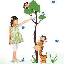 Removable Wall Sticker Children's Growth Chart Height Measure Tree Vinyl Decals