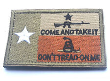 USA TEXAS STATE FLAG DONT TREAD ON ME TACTICAL MORALE COMBAT   PATCH sk 527