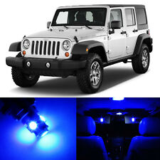 5 x Ultra Blue LED Interior Light Package For 2007 - 2014 Jeep Wrangler