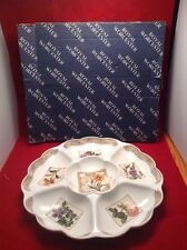 A ROYAL WORCESTER 'COUNTRY GARDEN' LARGE CRUDITE/HORS D'OEUVRES 6 PART DISH