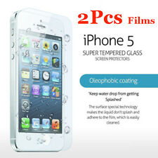 2Pcs Genuine Tempered Glass Films for Apple iPhone 5 5S 5C SE Screen Protectors