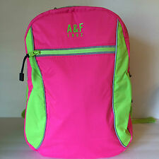 ABERCROMBIE & FITCH SPORT GYM BAG / BACK PACK , PINK/GREEN