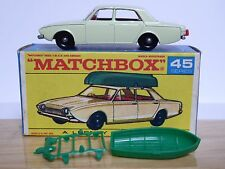 Matchbox Lesney No.45b Ford Corsair With Boat RARE Type 'F1' Series Box (MINT!)