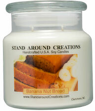 Premium 100% Soy Apothecary Candle - 16 oz Double Wicked- Banana Nut Bread