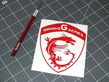 RED MSI Gaming G Series & Dragon Vinyl Decal Sticker Computer Pc Laptop Case Mod