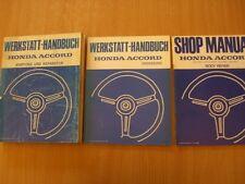 Manuale Di Riparazione Officina Honda Accord 2. Generation Modello 1981-1983