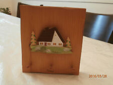 Vtg Wall Keyholder Perce Quebec Wood carving signed Audet