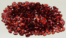 5x3mm Calibrated Orange Red Malaya Garnet Oval - 2 STONES