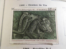 FRANCE 1966, timbre 1478, TABLEAU ART, VASE CRATERE VIX, oblitéré, VF used stamp