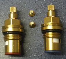 2 en céramique quart de tour robinet vanne insère glandes hot&cold 20 spline 7,6 mmx14.9 mm 02