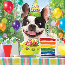 French Bulldog Birthday Bash Funny Birthday Card 3D Goggly Moving Eyes