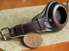 GENUINE LEATHER BAND POCKET WW1 MILITARY WATCH STRAP CASE 48-54mm OSCAR MOSER