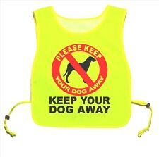 Keep Your Dog Away Waterproof Yellow tabard Walking Training 07