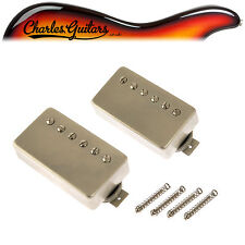 LINDY FRALIN PURE PAF HUMBUCKING PICKUPS RAW NICKEL COVERS (LF43003)