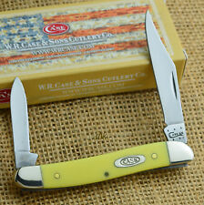 Case XX Yellow Synthetic Handle Pen Knife 00109 32087 CV
