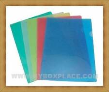 10 x Multi-color A4 Size Documents Clear File Folder for Office School Business